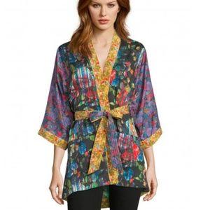 Robert Graham Floral Silk Laura Kimono Jacket NWT